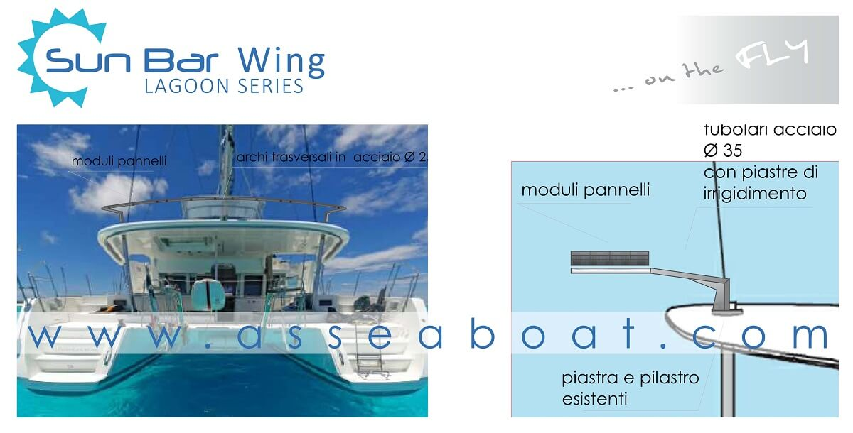 0 Sun Bar Wing Fotovoltaico Per Catamarani